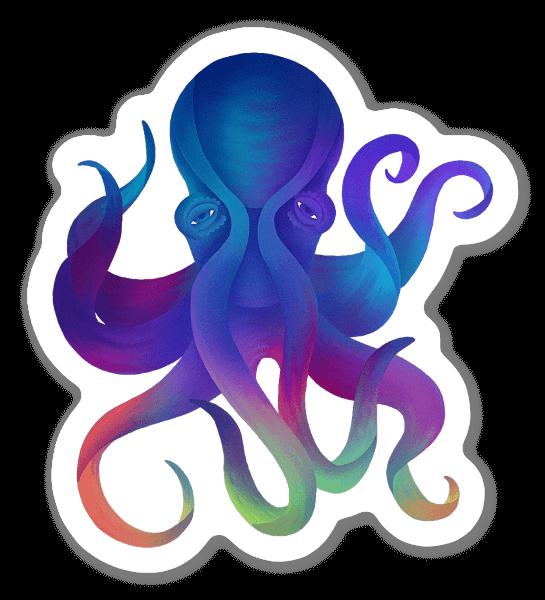 The deceptive octopus sticker