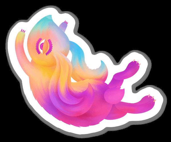 The sparky bunny sticker