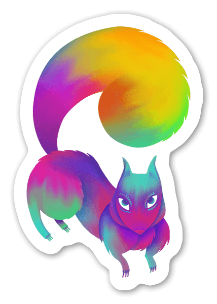 The sneaky squirrel sticker