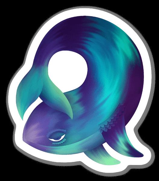 The daydreamer whale sticker