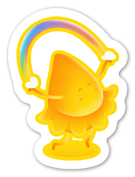 How many rainbows can you jump rope? sticker