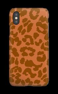 Rustrød Leopard deksel IPhone XS