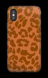 Rustrød Leopard deksel IPhone XS tough