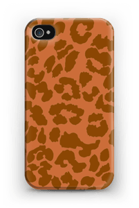 Rustrød Leopard deksel IPhone 4/4s