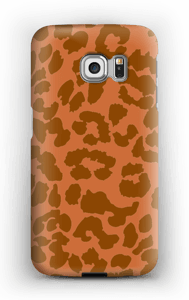 Rustrød Leopard deksel Galaxy S6 Edge