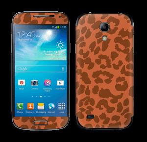 The orange leopard Skin Galaxy S4 Mini