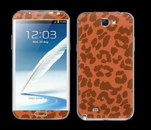 The orange leopard Skin Galaxy Note 2