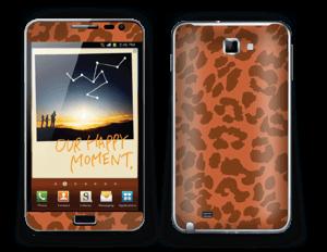 The orange leopard skin Galaxy Note