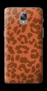The orange leopard Skin OnePlus 3