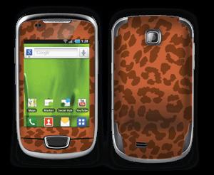 The orange leopard Skin Galaxy Mini