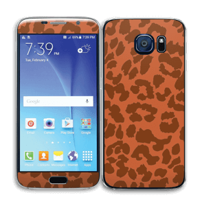 The orange leopard Skin Galaxy S6