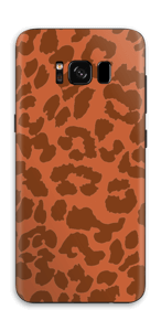 The orange leopard skin Galaxy S8