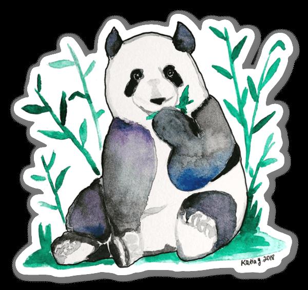 Aquarell Panda sticker
