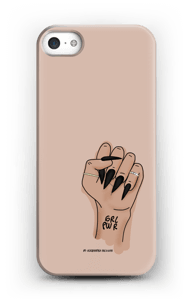 Nude GRL PWR case IPhone SE