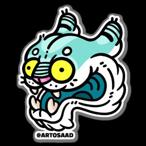 Crazy Tiger sticker