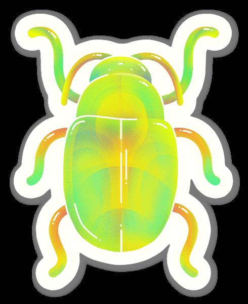 Bubble beetle sticker
