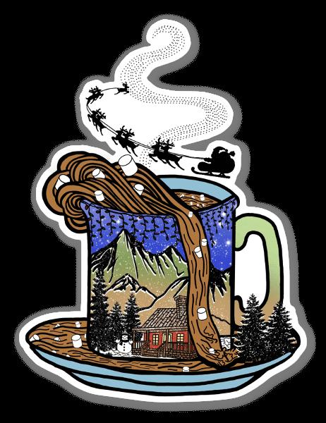 Weihnachts Kakao sticker