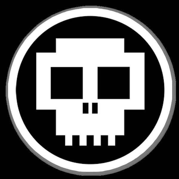 Pixel Tot sticker