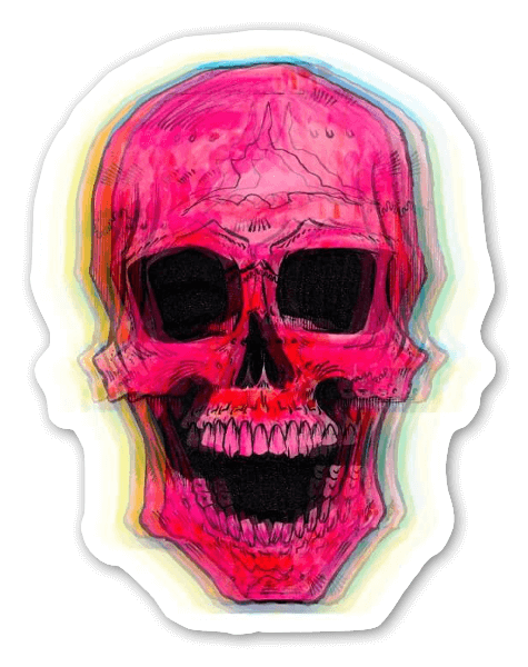 Mort étrange sticker