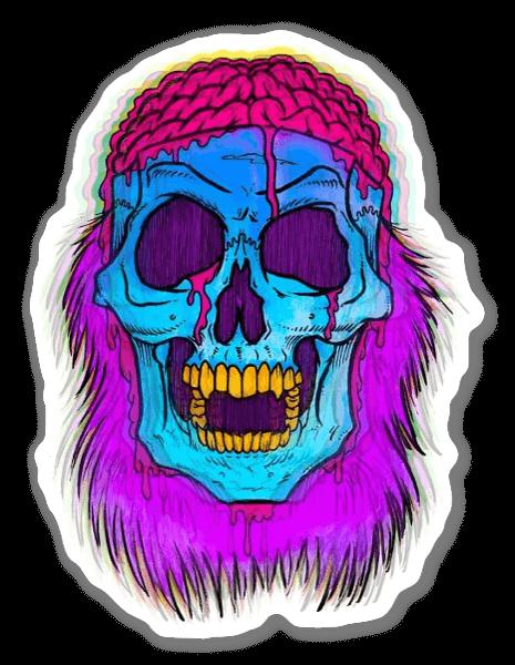 Crâne Psychédélique sticker