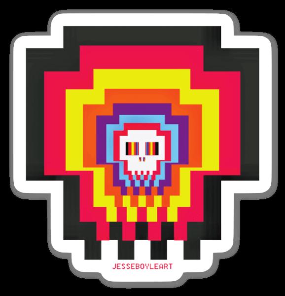 Totenkopf Spiel sticker