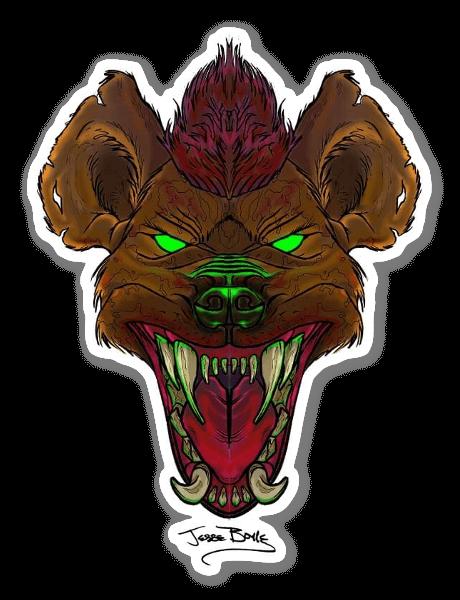 Hyène sticker