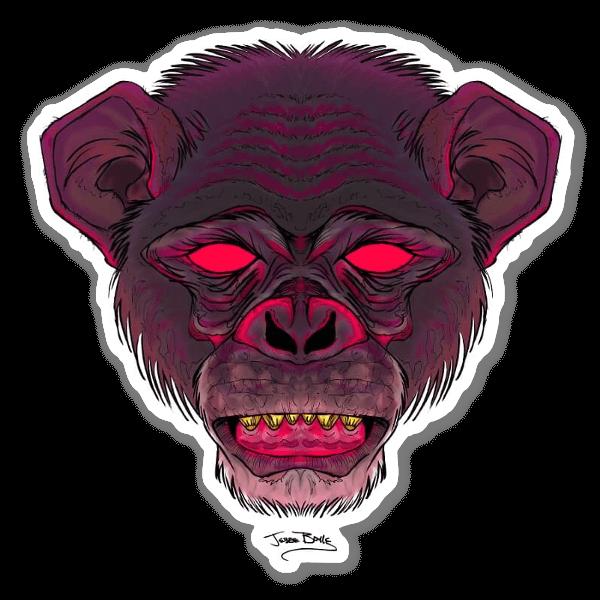 Schimpanse sticker
