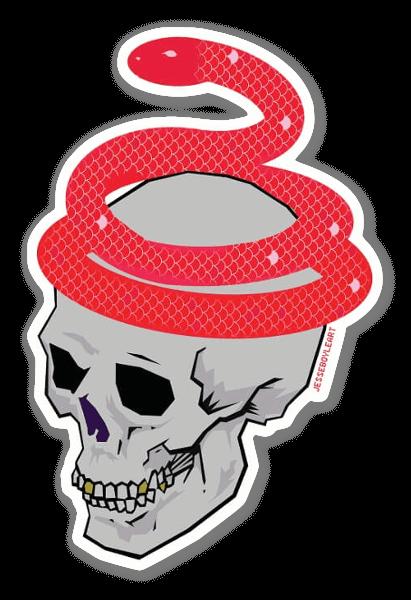 Serpent dans la tête sticker