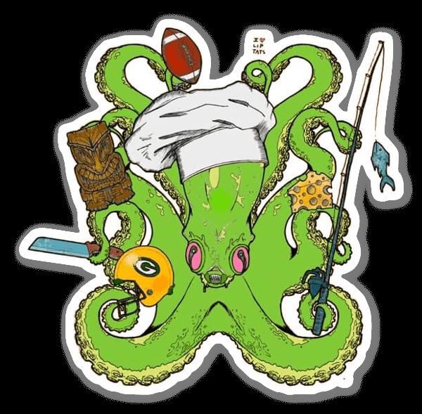 Kraken Kaos sticker