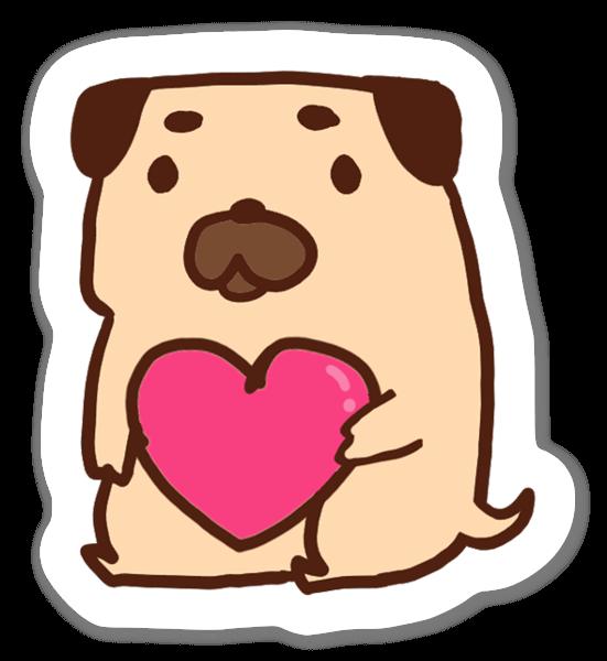 Chien Love sticker