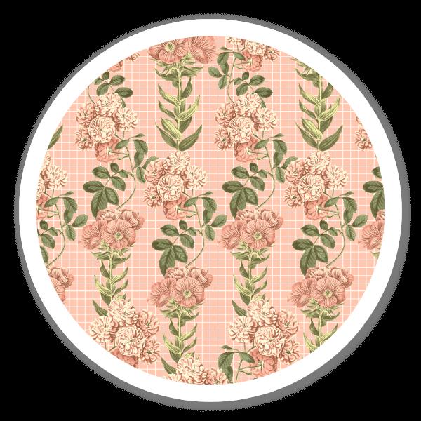 Rosa Vintage Muster sticker