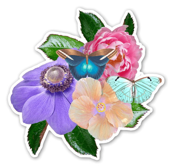 Blumen Gesteck sticker