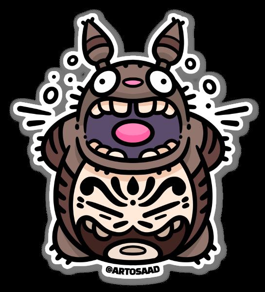 Totoro Tanuki sticker