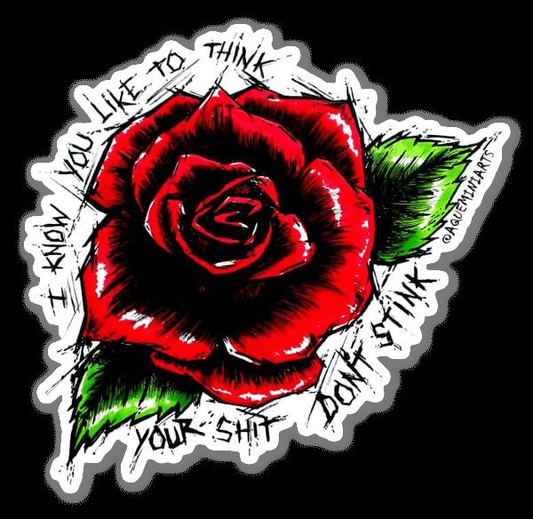 Rose Stank pegatina