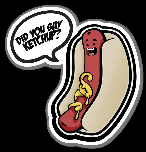 Sa du ketchup? sticker