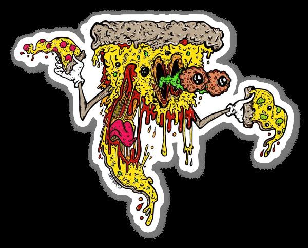 Monster Pizza sticker