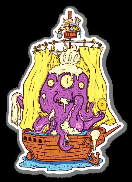Octo Shower  sticker
