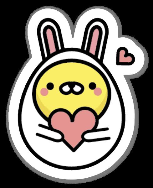 Lovely Eggbunny! sticker