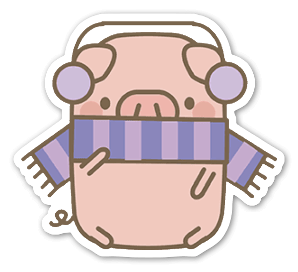 Vinter gris sticker