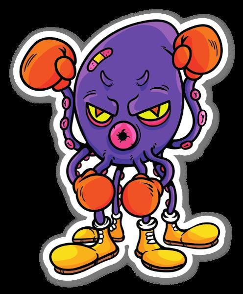 Boxing Octopus sticker