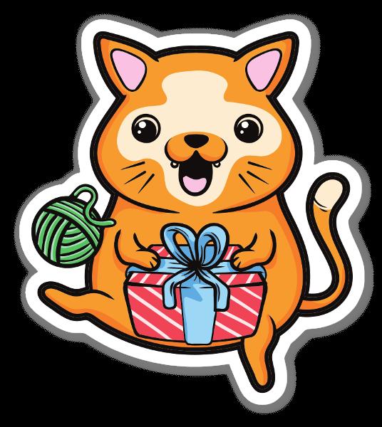 Cute cat sticker