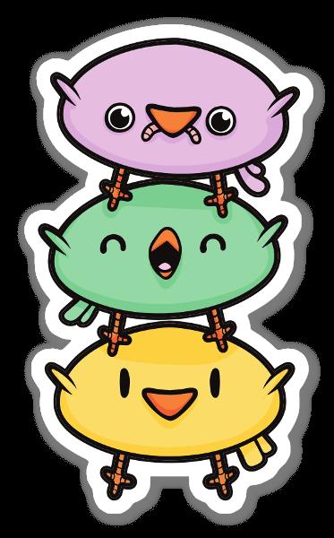 Cute Birds sticker