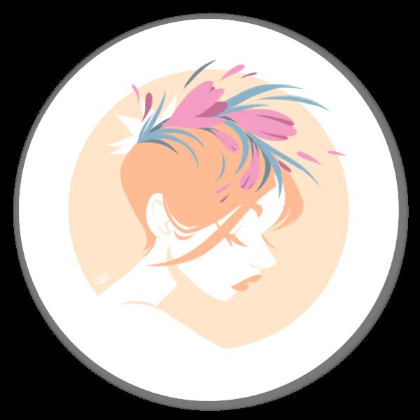 Adesivo Peach Girl sticker