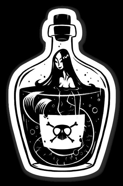 Poison Mermaid Sticker