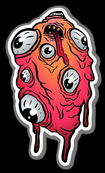 Abomination (red) sticker