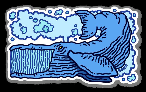 Rechteckiger Wal sticker
