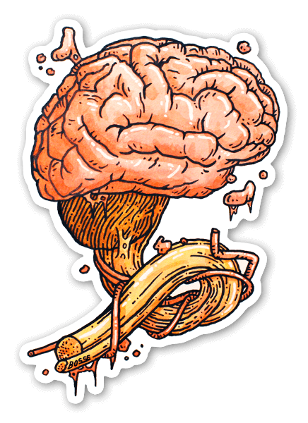 Gehirn sticker