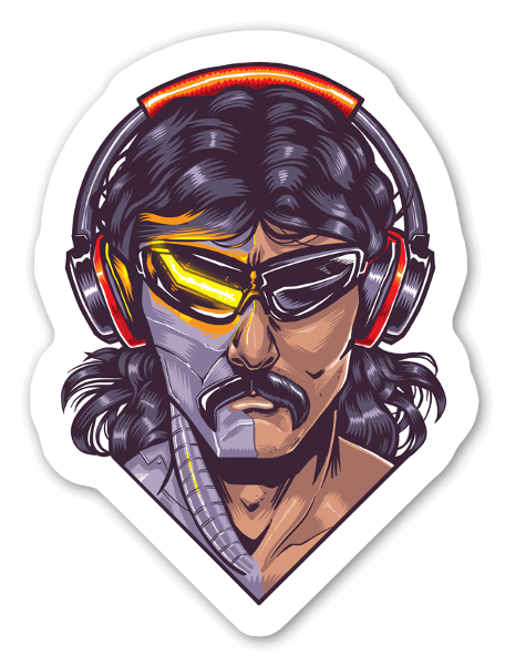 Dr. Disrespect - Twitch - Two Time sticker