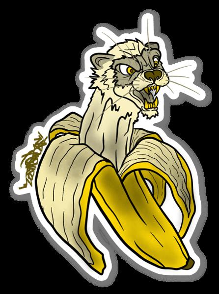 Ferret Banana sticker