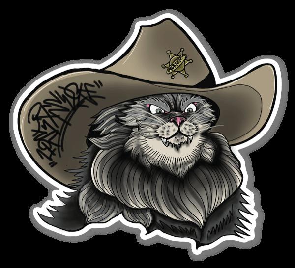Meowdy Texan Cat sticker